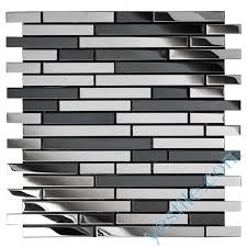 mixed color brick style stainless steel mosaic tile