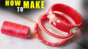 How To Make Thread Bangles At Home Zig Zag Party Wear Step By Latest Tutorial