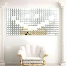 self adhesive tile mirror wall stickers decal mosaic room
