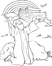 Bible Story Coloring Pages God Gives A Rainbow