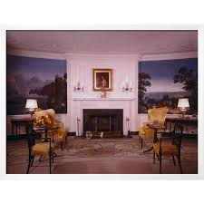 Interior Of White House Diplomatic Area Framed Photographic Print Wall Art