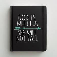 Bible Decal Journaling Cover God Is With Her