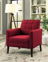Furniture Of America Amelie Red Accent Chair | The Classy Home