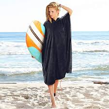 Catalonia Surf Poncho Towel With Hood For Adults Women Men Microfiber Beach Swimming
