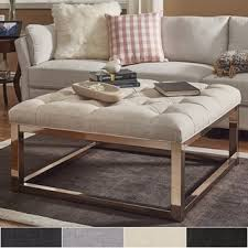 Solene Square Base Ottoman Coffee Table Champagne Gold by