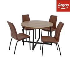 Argos Home Nomad Round Dining Table And 4 Chairs | EBay Oak Round Ding Table In Brown Or Black Garden Trading Extending Vintage And Coloured With Tables Glass Square Wood More Amart Fniture Serene Croydon Set 4 Marlow Faux Leather Eaging Solid Walnut And Chairs White Outdoor Winston Porter Fenley Reviews Wayfair Impressive 25 Levualistecom Amish Merchant Oslo Ivory Leather Modern Direct Rhonda In Blacknight Oiled Woood Cuckooland Chair Seats Round Extending Ding Table 6 Chairs Extendable