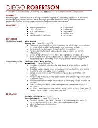 Night Auditor Resume Sample