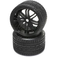 100 Rims Truck Sweep Road Crusher Belted Monster Tires On Black 2