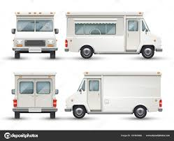 100 Commercial Truck And Van White Blank Food Car Commercial Truck Isolated Stock Vector