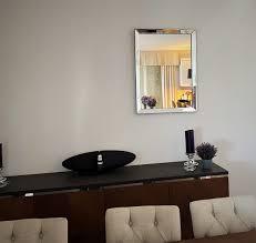 edler design spiegel wandspiegel spiegelglas spiegelrahmen handmade carl svensson 80x60