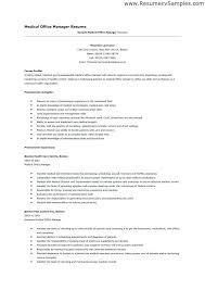 Office Manager Resume Fresh Medical Fice Examples Of Resumes