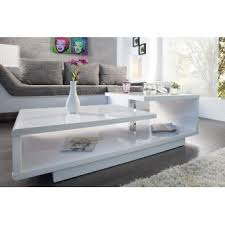 table basse design blanc laque
