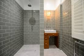 grey subway tile white and wood kitchen with subway tiles matte