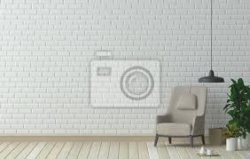 fototapete möbel set und sessel im wohnzimmer innenarchitektur 3d darstellung