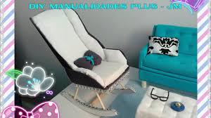 Barbie Living Room Furniture Diy by Manualidad Mesedora Para Muñecas Barbie Diy Rocking Chair For