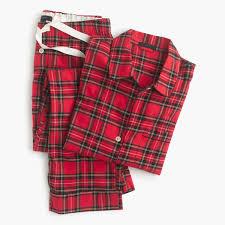 j crew gift guide women u0027s classic tartan flannel pajama set