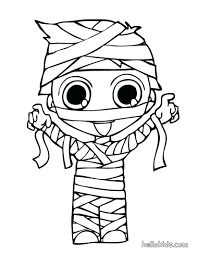 Coloring Pages For Kindergarten Christmas Halloween Color Pdf Disney Creature Wearing Mommy Costume Page Holiday