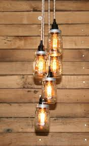 DecorationsIncredible Diy Light Mason Jar Chandelir In Bar With Wooden Pallet Kitchen And