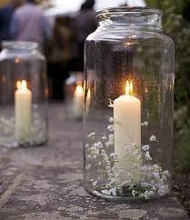 Candles In Large Jars Down The Isle Vintage Party DecorationsVintage Decoration WeddingChurch