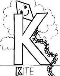 Kite Alphabet Coloring Pages Free