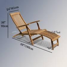 teak steamer chairs home interior furniture