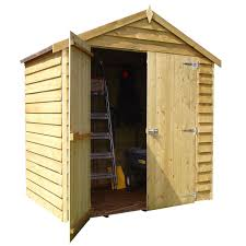 4x6 Wood Storage Shed by Double Door Overlap Apex Shed U2013 Next Day Delivery