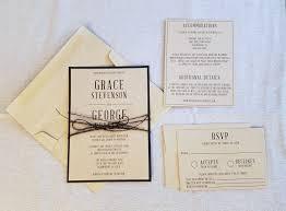 Modern Rustic Minimalist Wedding Invitation Suite
