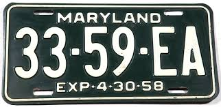 100 Truck License 1958 Maryland Plate Brandywine General Store