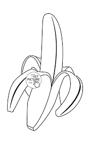 Download Coloring Pages Banana Page Tropical For Kids Fruits