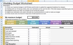 Little Wedding Guides Budget Worksheet In Excel Format