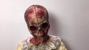 Halloween Silicone Half Masks by Cracked Baby Silicone Half Mask Bloody Bone Variant Youtube