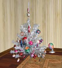 Aluminum Christmas Tree With Color Wheel Boxed