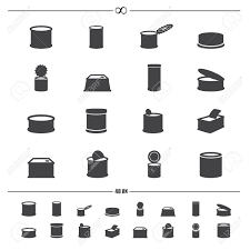 illustration of canned food iconsctor eps10 Stock Vector