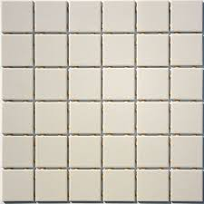 2 inch lyric unglazed porcelain mosaic tile in blanc casse white
