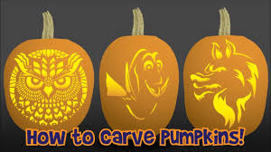 Printable Tinkerbell Pumpkin Carving Stencils by How To Carve A Pumpkin With A Pumpkin Stencil Youtube