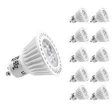le led gu10 50w le 10 pack dimmable gu10 led light bulbs 50w halogen bulbs