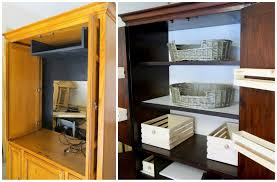 Armoire Cabinet Door Hinges by Diy Make Your Own Wood Storage Bins Tv Armoire Renovation