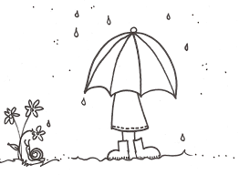 Rain Boots Coloring Pages Spring