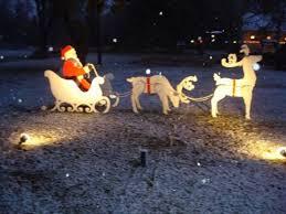 Wooden Yard Art Santa In Sleigh With Reindeer 3D Facebook