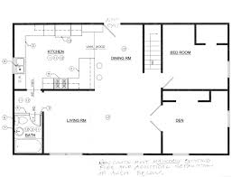 Floor Plans Kitchen by Cool Apartment Building Plans With Simple Kitchen Design