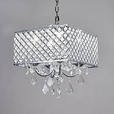 diamond life 4 light chrome finish square metal and cryta https