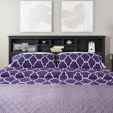 Purple Velvet King Headboard by Prepac Sonoma Black King Headboard Bsh 8445 The Home Depot