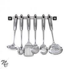 ustensiles cuisine inox barre avec 6 ustensiles de cuisine inox achat vente repose