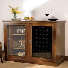 siena mezzo wine credenza walnut with wine refrigerator wine