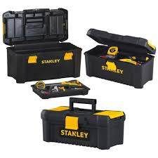 100 Plastic Truck Toolbox STANLEY PORTABLE TOOL BOX ORGANIZER Storage Lock Mechanic