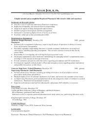 Ideas Of Pharmacist Resume Template Perfect Retail Best