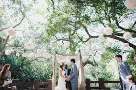 Outdoor Wedding Ceremony Tree Decorations A Rustic In The Woods Katie Nick Green