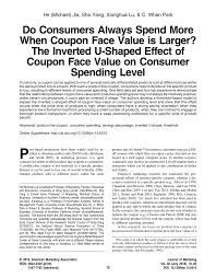 PDF) Do Consumers Always Spend More When Coupon Face Value ... Doctors Fosters And Smith Goldenacresdogscom 25 Off Vivipet Promo Codes Top 20 Coupons Promocodewatch Kellys Jelly Shopping Retail Lake Oswego Oregon Comentrios Do Leitor Drs Foster And Koi Treats For Goldfish 8 Oz Petco Lds Family Blog Sheplers Coupon Code March 2018 Black Friday Deals Uk Obsver 36 Finnex Planted 247 Daynighttime Cycling Aquarium Systems In The City Fintech Directory Ancestors Foster Smith 5 Off
