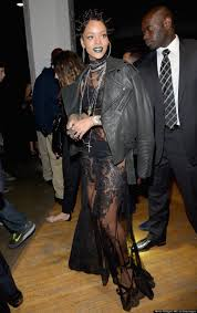 rihanna long lace dress best dressed