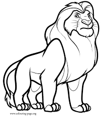 Lion King Coloring Page 13